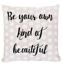 Bloomingville Cushion - 40x40 - Powder w. Text