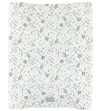 Cam Cam Changing Pad - Pressed Leaves Blue