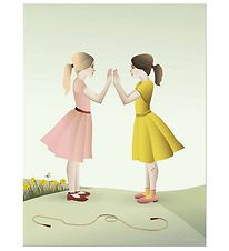 Vissevasse Poster - 50x70 - Hand-Clapping Girls