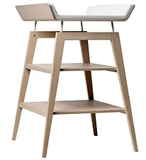 Leander Changing Table w. Cushion - Linea - Beech