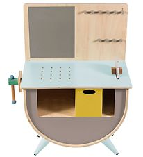 Sebra Tool Bench - Grey-brown/Mint
