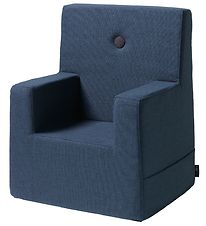 by KlipKlap - Kids Chair XL - Dark Blue/Black