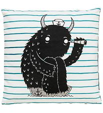Bloomingville Cushion - 50x50 - White Striped/Monster