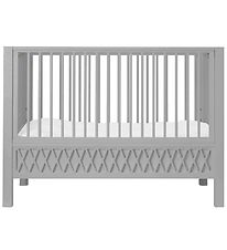 Cam Cam Crib - Harlequin - Grey