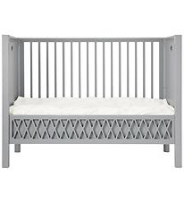 Cam Cam Crib w. Closed Ends - Harlequin - Grey