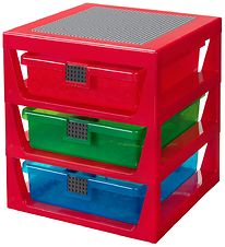 Lego Storage Storage w. 3 Drawers - 34x32x38 - Red
