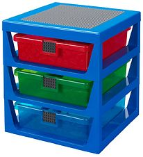 Lego Storage Storage w. 3 Drawers - 34x32x38 - Blue