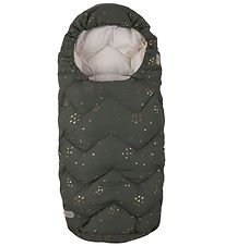 Design By Voksi Stroller Sleeping Bag - 100 cm - Green Star