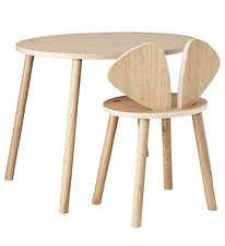 Nofred Table + Chair - Mouse School Set - Oak