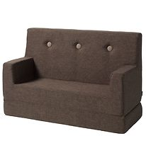 by KlipKlap Sofa - Kids Sofa - 100 cm - Brown/Sand