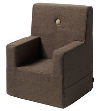 by KlipKlap Armchair - Kids Chair XL - Brown w. Sand