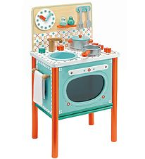 Djeco Toy Kitchen - 70x37 cm - Wood - Leo's Cooker
