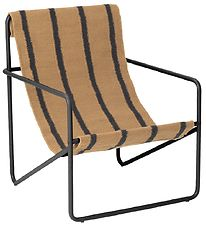 ferm Living Chair - Desert Chair Kids - Black/Stripe