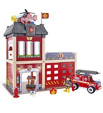 Hape Play Set - 13 parts - Fire station