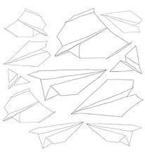Zebra Wallstickers - 11 pcs - Paper airplanes