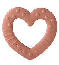 Bibs Teether - Heart - Peach