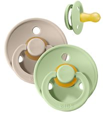 Bibs Color Dummies - Size 2 - Natural rubber - Sand/Pistachio