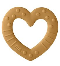 Bibs Teether - Heart - Mustard