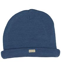 Racing Kids Hat - Wool/Acrylic - Dusty Blue