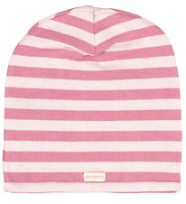 Racing Kids Beanie - 2-layers - Rose w. Stripes