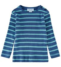 Noa Noa Miniature Blouse - Rib - Art Blue w. Stripes