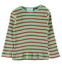 Noa Noa Miniature Blouse - Rib - Art Green w. Stripes