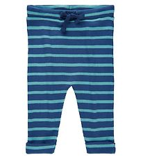 Noa Noa Miniature Leggings - Rib - Art Blue w. Stripes
