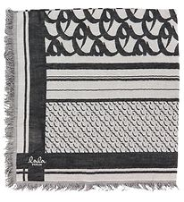 Lala Berlin Scarf - 80x80 - Cube Monogram Light - Black Monog