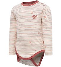 Hummel Bodysuit L/S - hmlFreja - Rose w. Stripes