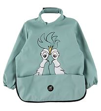 babyLivia Apron - PU - Blue Surf w. Hans the Rooster