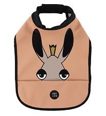 babyLivia Bib w. Food Catcher - Elvis the Moose - Muted Clay