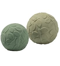 Natruba Balls - Natural Rubber - 2-pack - Leaf Green