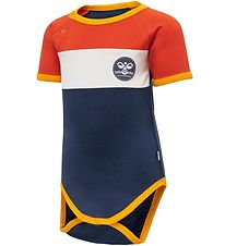 Hummel Bodysuit s/s - hmlAnton - Orange/Navy