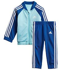 adidas Performance Track Suit - 3S - Light Blue/Blue w. White