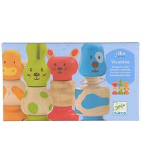 Djeco Wooden Toys - 4 pcs - Screw-Together Animals