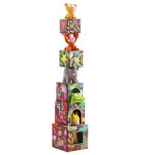 Djeco Stacking Toy - 10 Parts - Jungle Animals