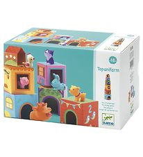 Djeco Stacking Blocks - 12 Parts - Farm