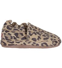 Melton Slippers - Leather - Leopard