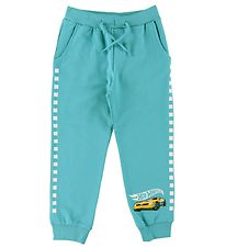 Name It Sweatpants - NmmHotwheels - Aqua w. Yellow Car