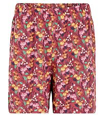 The New Shorts - Uri - Mineral Red w. Flowers