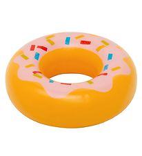 MaMaMeMo Play Food - Wood - Donut w. Pink Glaze