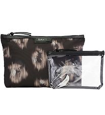DAY ET Toiletry Bag - Gweneth Ikat Small Set - Black w. Pattern