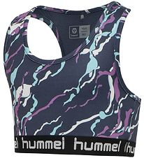 Hummel Sports Top - hmlMimmi - Dark Grey w. Pattern