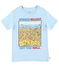 Vans T-shirt - Blue w. Where's Wally