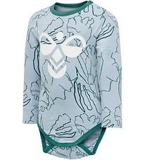 Hummel Bodysuit l/s - hmlMagne - Light Blue w. Print