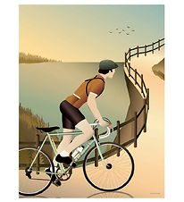 Vissevasse Poster - 50x70 - Cycling In The Hills
