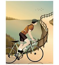 Vissevasse Poster - 30x40 - Cycling In The Hills