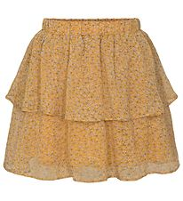 Petit by Sofie Schnoor Skirt - Siggy - Yellow w. Flowers