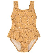 Petit by Sofie Schnoor Swimsuit - Millie - UV50+ - Yellow w. Flo