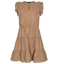Petit by Sofie Schnoor Dress - Annasophia - Brown w. Gold